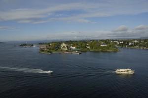 Die Museumshalbinsel Bygdøy ist mit der Innenstadt von Oslo durch Taxiboote verbunden. Foto: © Ralf Schröder